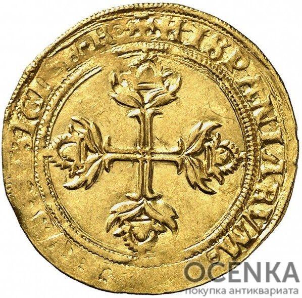 Золотая монета 1 Эскудо (1 Escudo) Испания