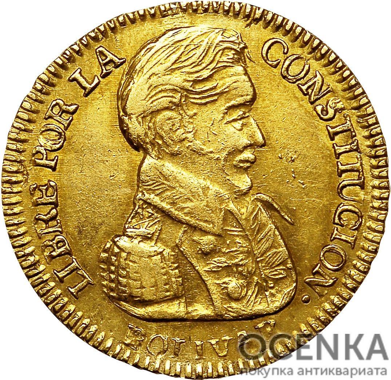Золотая монета 1 скудо (1 Scudo) Боливия - 1