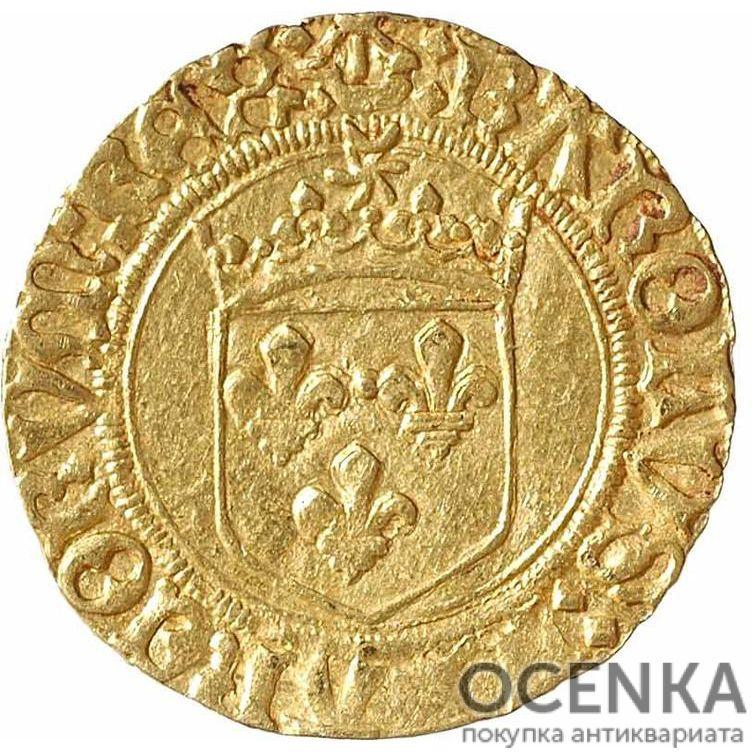 Золотая монета ½ Дьёра (½ d'Or) Франция - 7