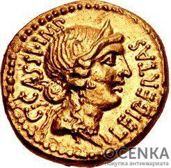 Золотой ауреус, Гней Лентул, 76-74 год до н.э.
