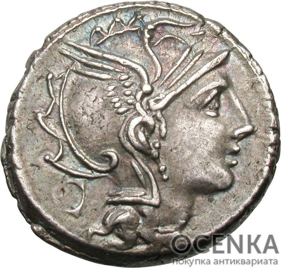 Серебряный Республиканский Денарий Аппия Клавдия Пульхра, 111-110 год до н.э.
