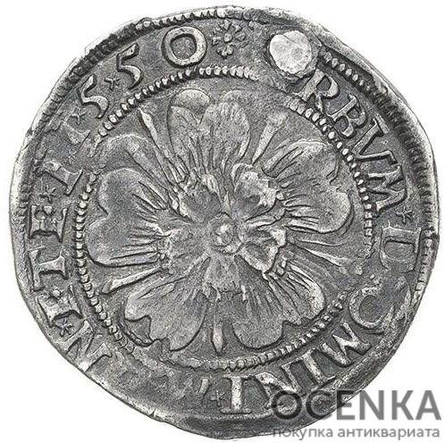 Серебряная монета ½ Гульдена (½ Gulden) Германия - 6