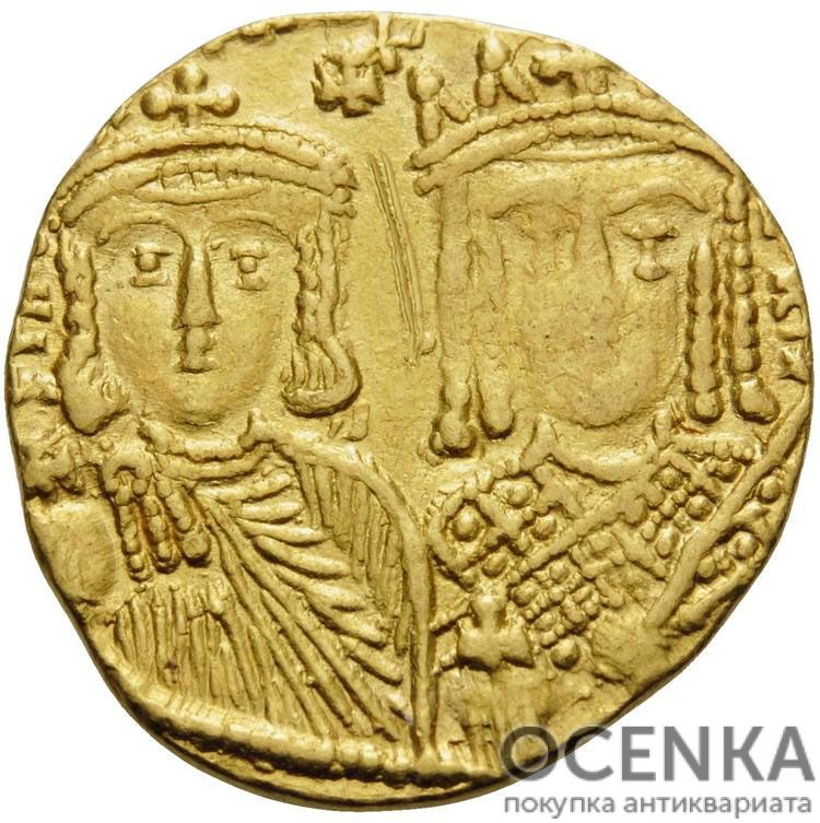 Золотой солид Византии, Константин VI и Ирина, 780-797 год