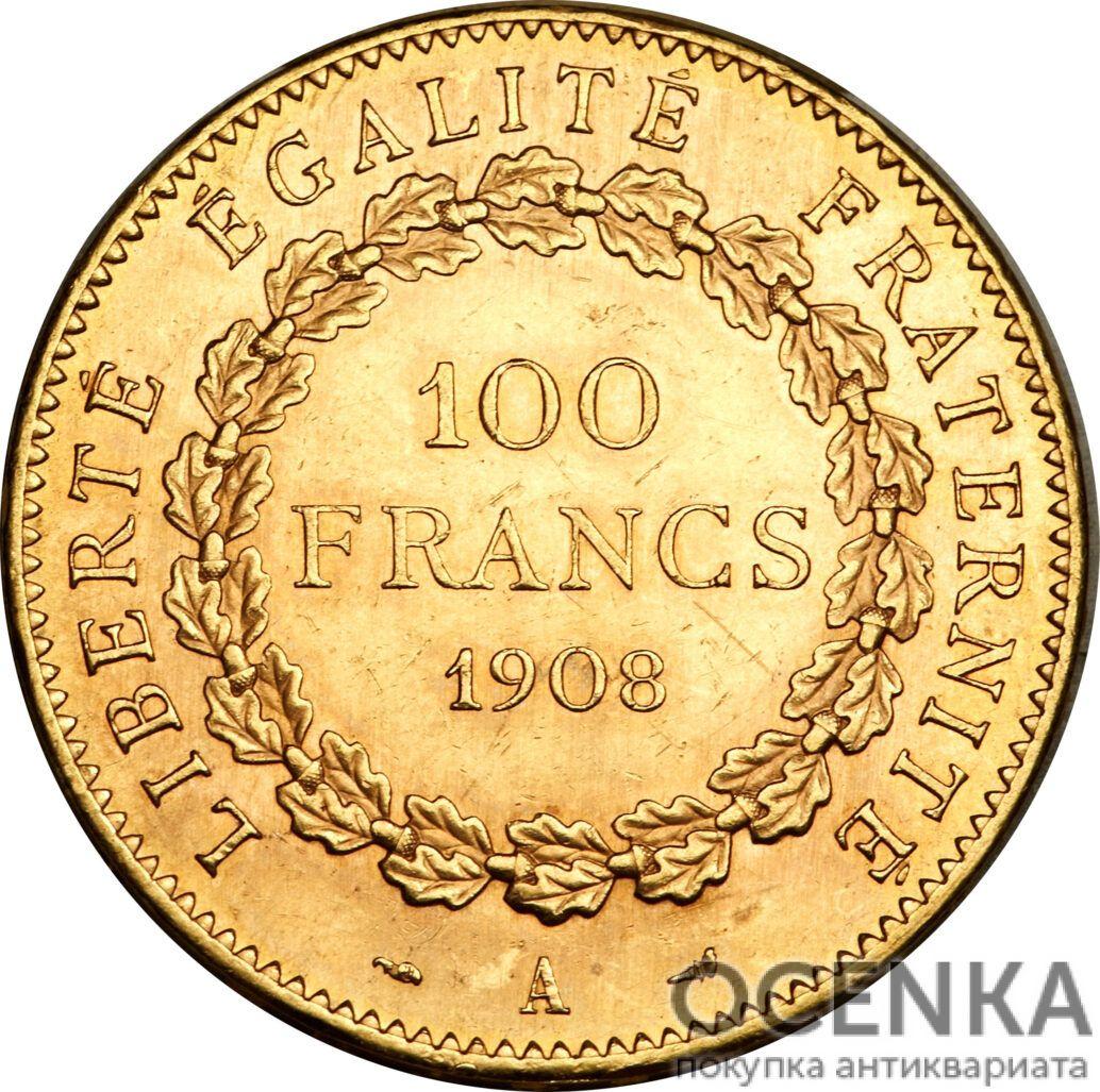 Золотая монета 100 Франков (100 Francs) Франция - 2