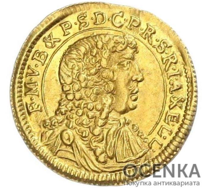 Золотая монета ¼ Дуката Германия - 1