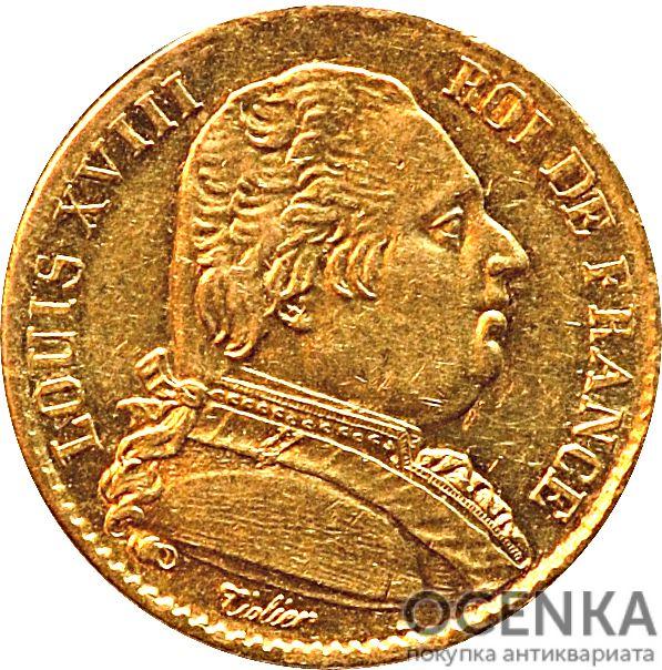 Золотая монета 20 Франков (20 Francs) Франция - 3