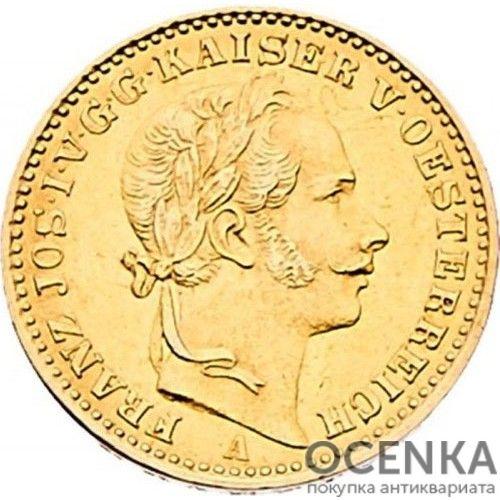 Золотая монета 1/2 кроны Австро-Венгрии - 1