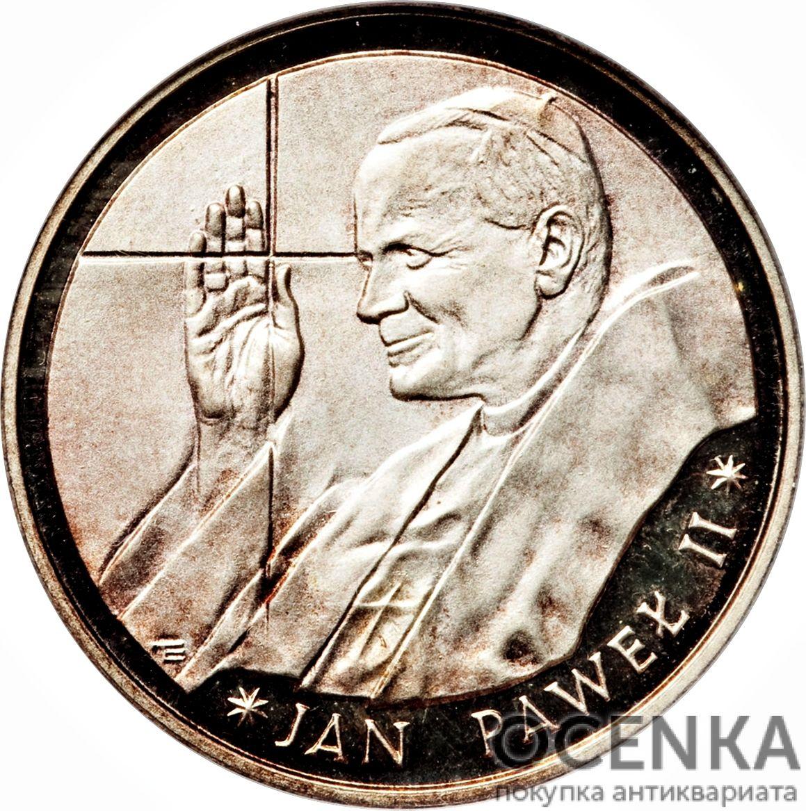 Серебряная монета 10 000 Злотых (10 000 Złotych) Польша - 4