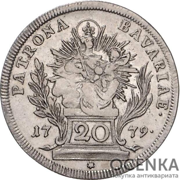 Серебряная монета 20 Крейцеров (20 Kreuzer) Германия - 2