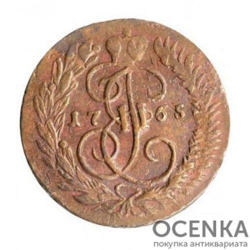 Медная монета 2 копейки Екатерины 2 - 7