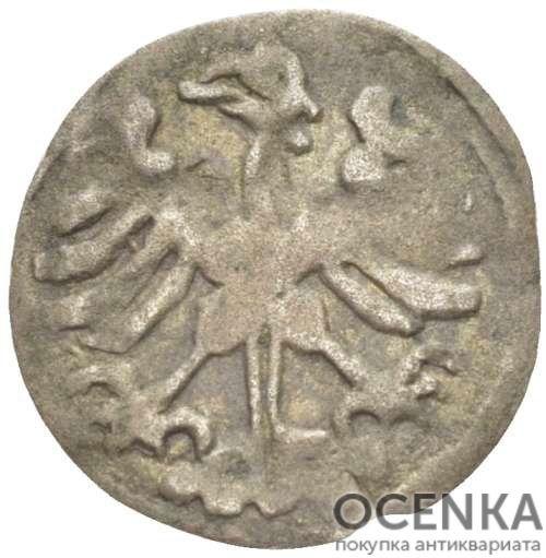 Серебряная монета Денарий Средневековой Литвы - 3