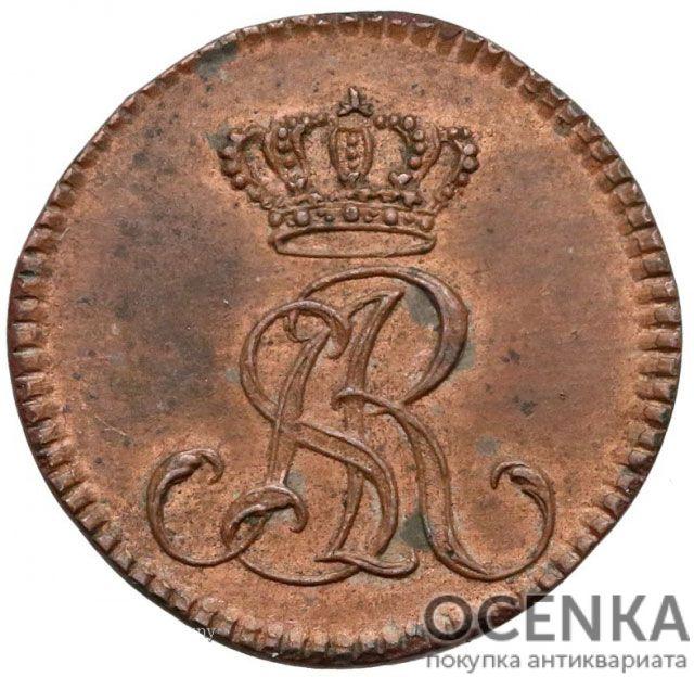 Медная монета Двугрош Средневековой Европы - 1