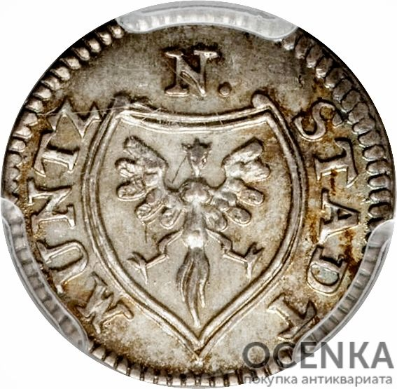 Серебряная монета 4 Пфеннига (4 Pfennig) Германия - 7