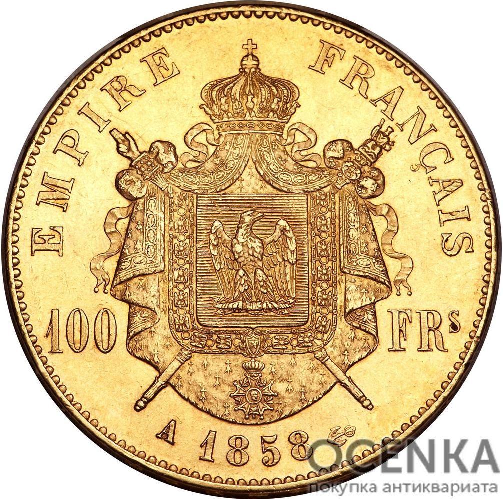 Золотая монета 100 Франков (100 Francs) Франция