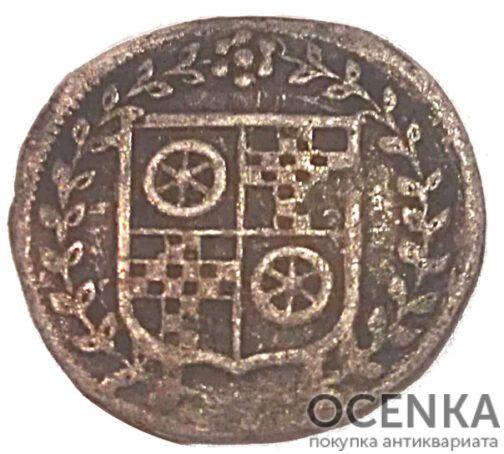 Серебряная монета Альбус Средневековой Германии - 5