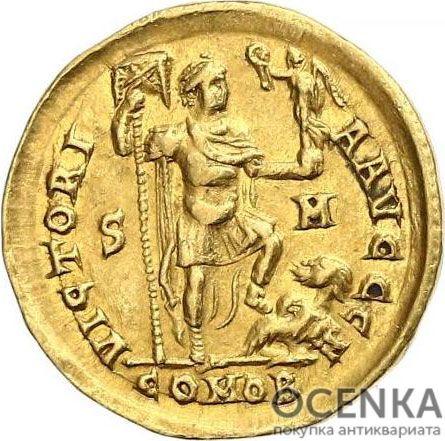 Золотой солид Византии, Флавий Аркадий Август, 383-408 год - 1
