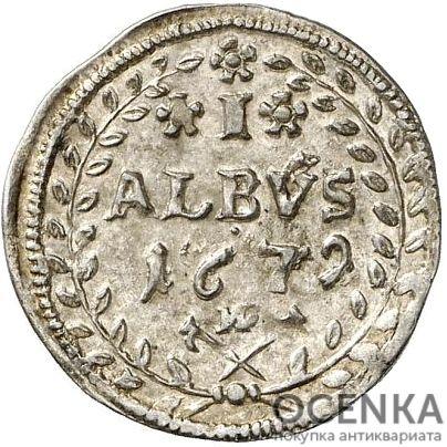 Серебряная монета Альбус Средневековой Германии - 2