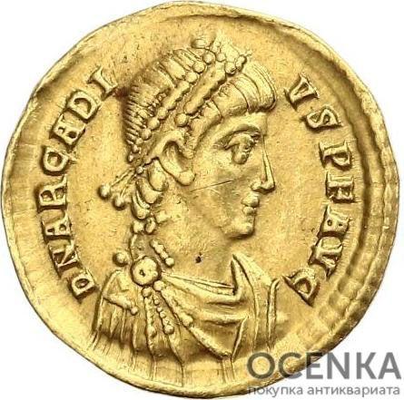 Золотой солид Византии, Флавий Аркадий Август, 383-408 год