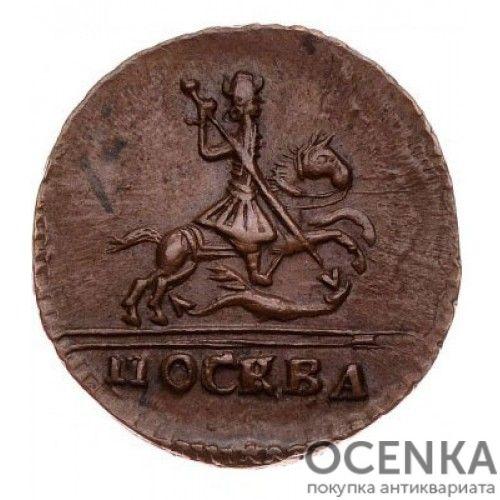 Медная монета 1 копейка Петра 2 - 1