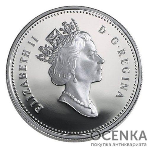 Серебряная монета 1 Доллар Канады - 1