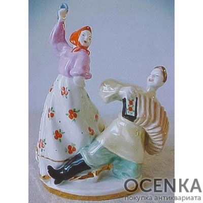 Статуэтка Гармонист и танцующая девушка
