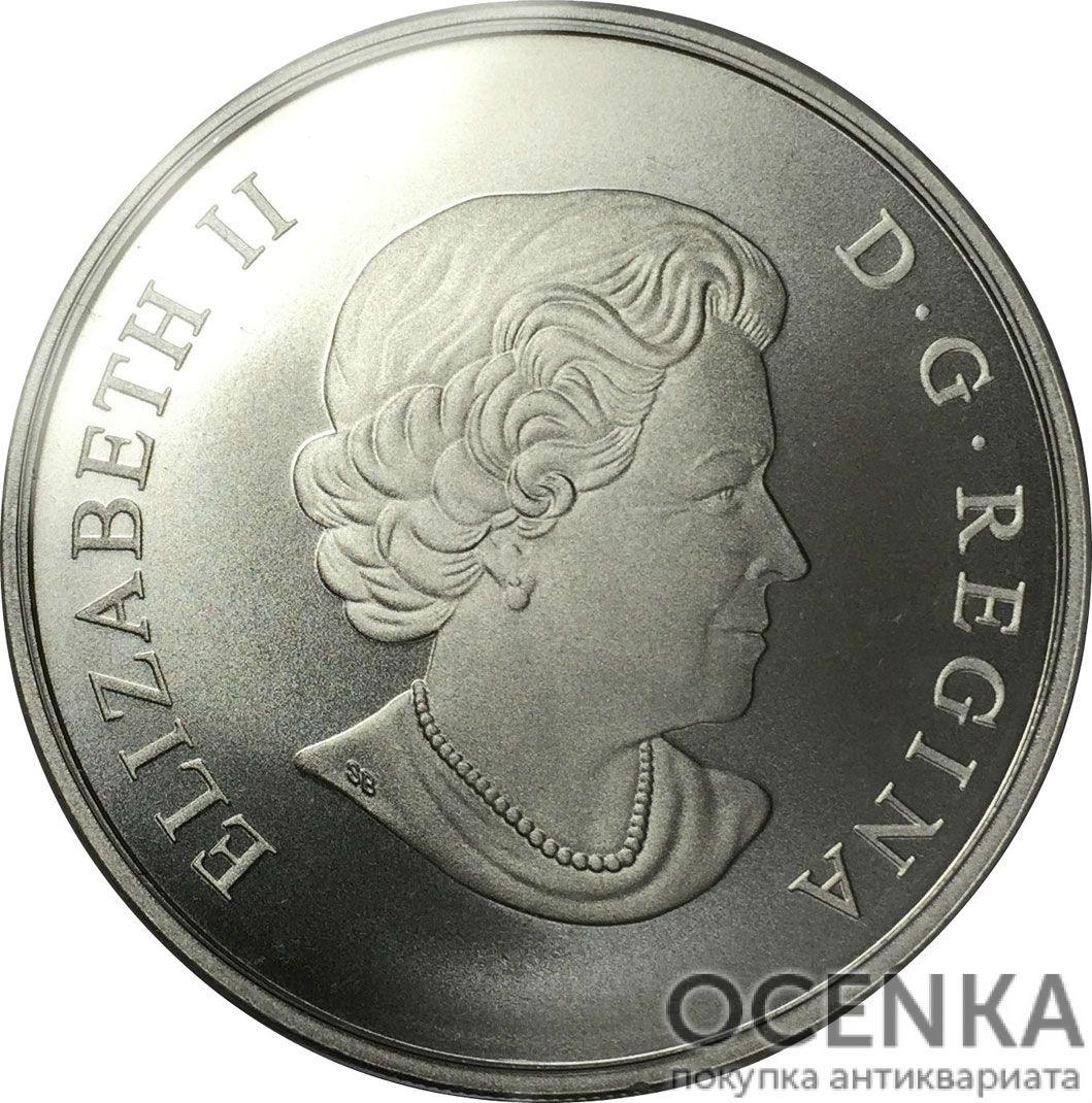 Серебряная монета 200 Долларов Канады - 5
