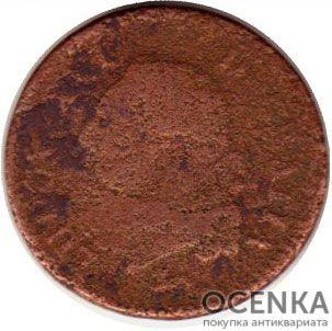 Медная монета Су Средневековой Европы - 1
