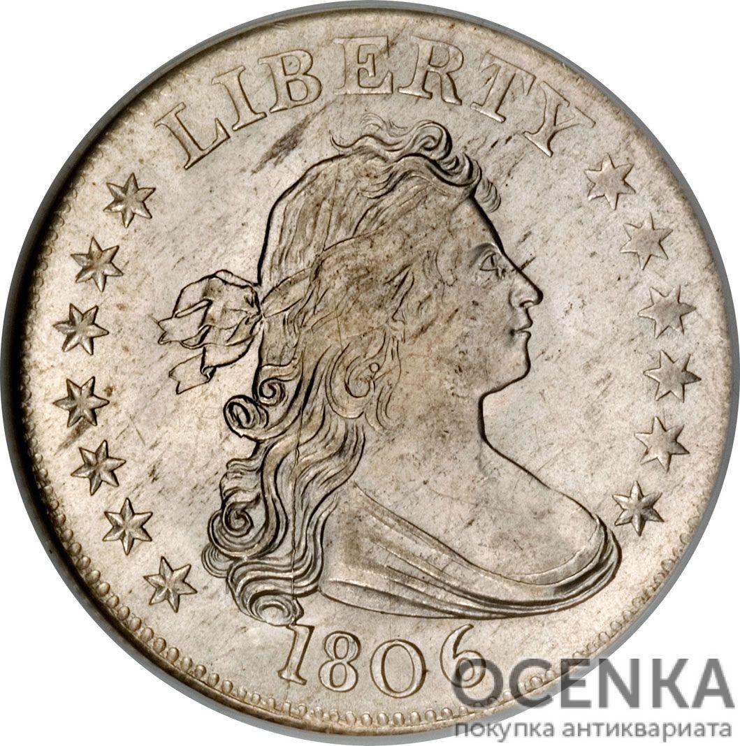 Серебряная монета 25 центов (25 Cents) США - 3