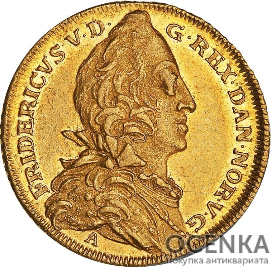 Золотая монета 2 Дуката (2 Ducats, Dukater) Дания - 5
