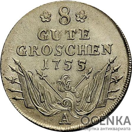 Серебряная монета 8 Грошей (8 Groschen) Германия