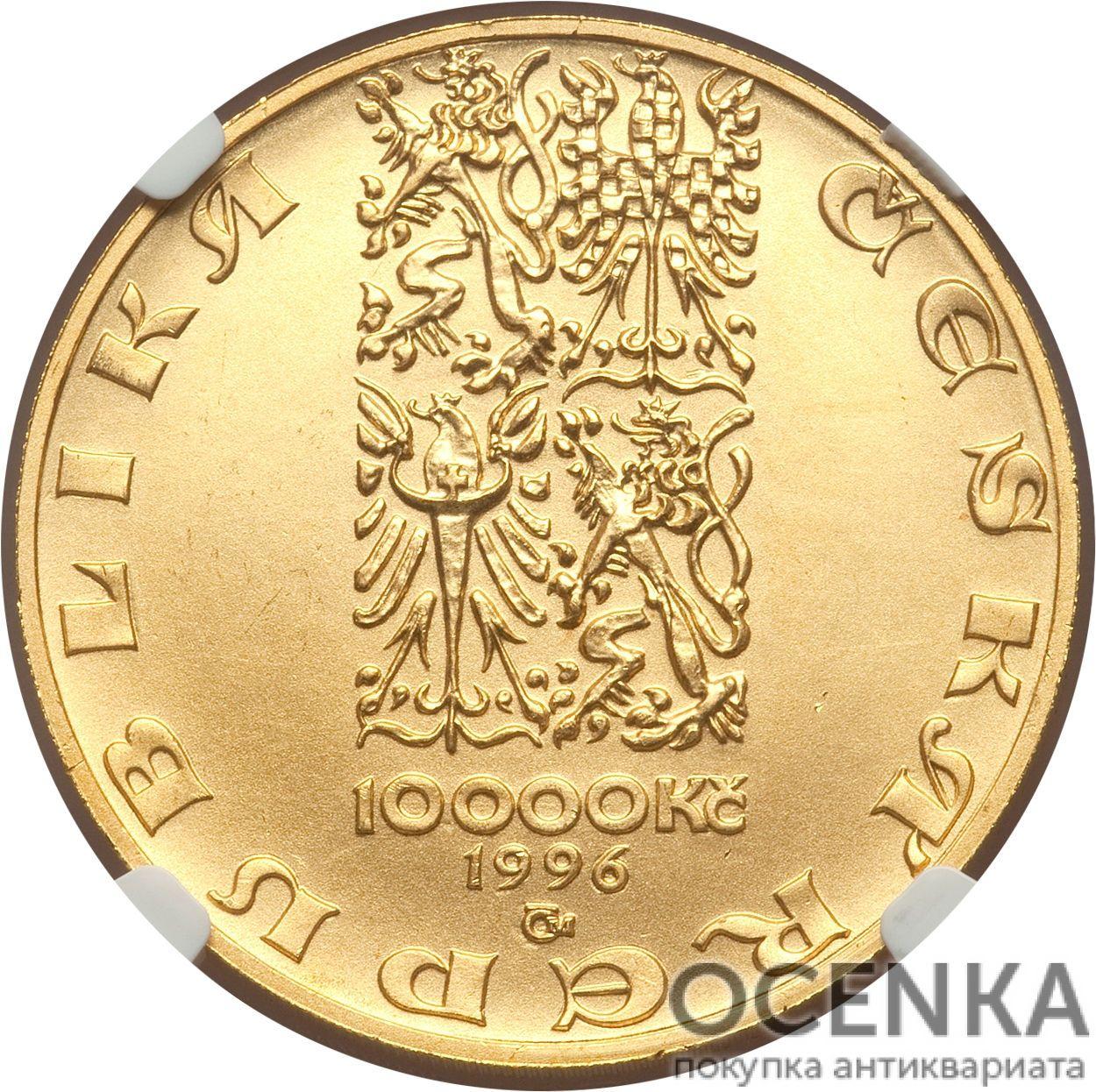 Золотая монета 10 000 Крон (10 000 Korun) Чехия - 2