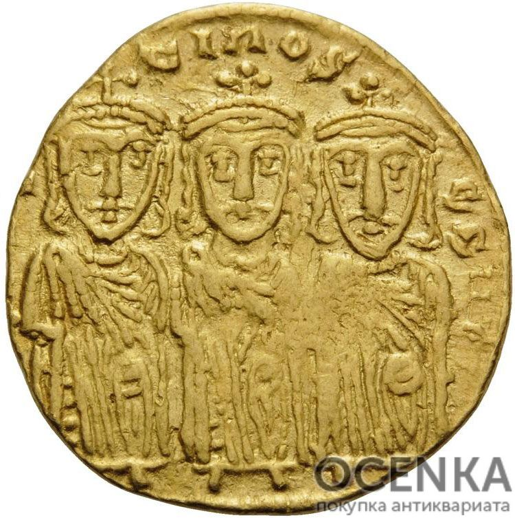 Золотой солид Византии, Константин VI и Ирина, 780-797 год - 1