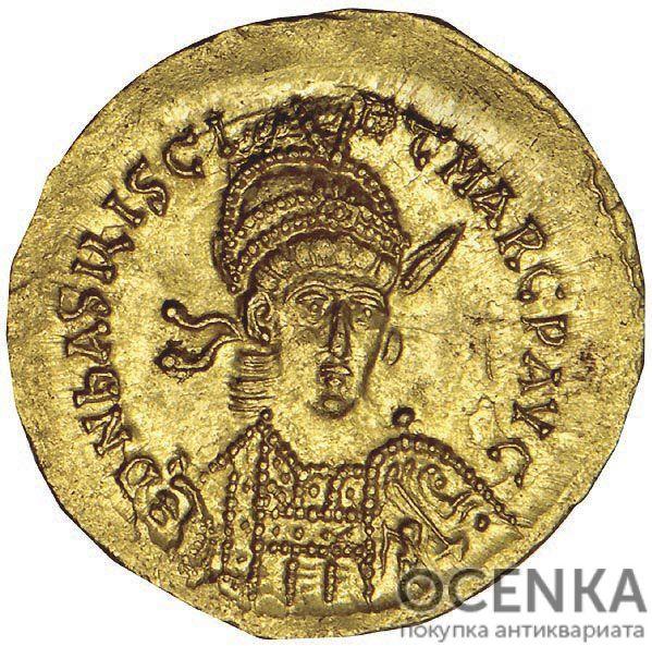 Золотой солид Византии, Флавий Василиск, 476-477 год