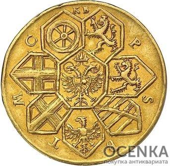 Золотая монета 5 Дукатов Германия - 4