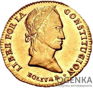 Золотая монета 2 скудо (2 Scudos) Боливия - 3