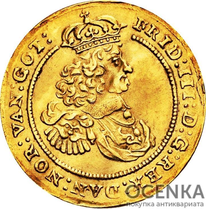 Золотая монета 2 Дуката (2 Ducats, Dukater) Дания - 3