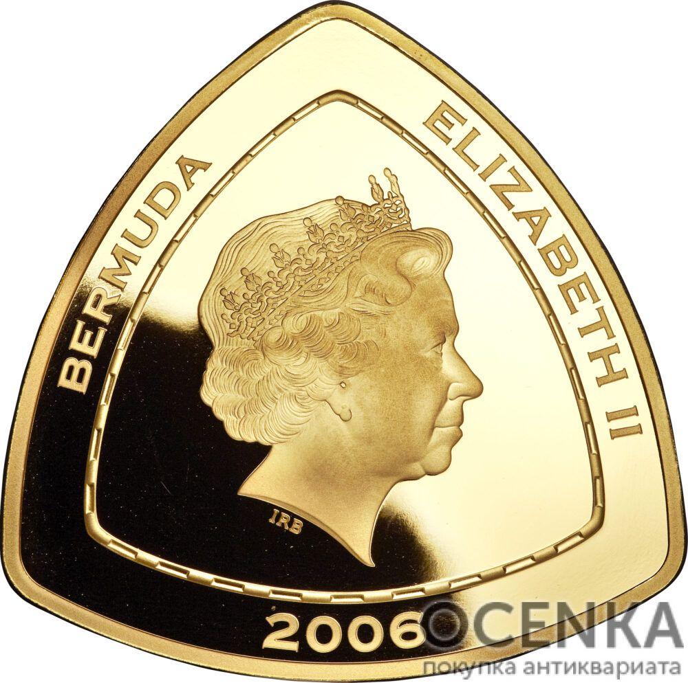 Золотая монета 90 долларов Бермудских островов - 1