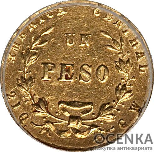 Золотая монета 1 Песо (1 Peso) Коста Рика
