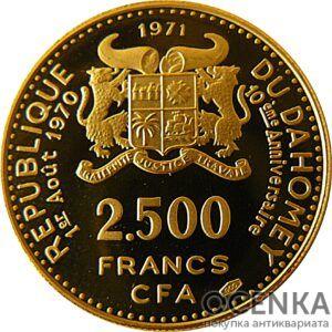 Золотая монета 2500 Франков Бенина