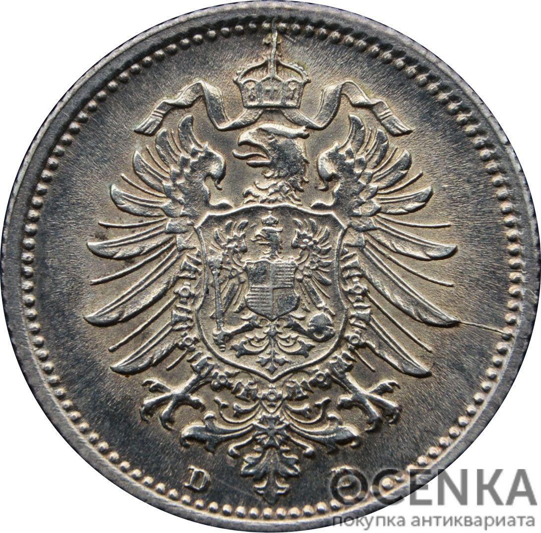 Серебряная монета 20 Пфеннигов (20 Pfennig) Германия - 1