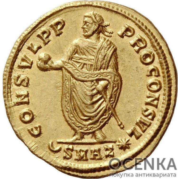 Золотой ауреус, Цезарь Гай Валерий Галерий Максимин II Август, 309-313 год - 1