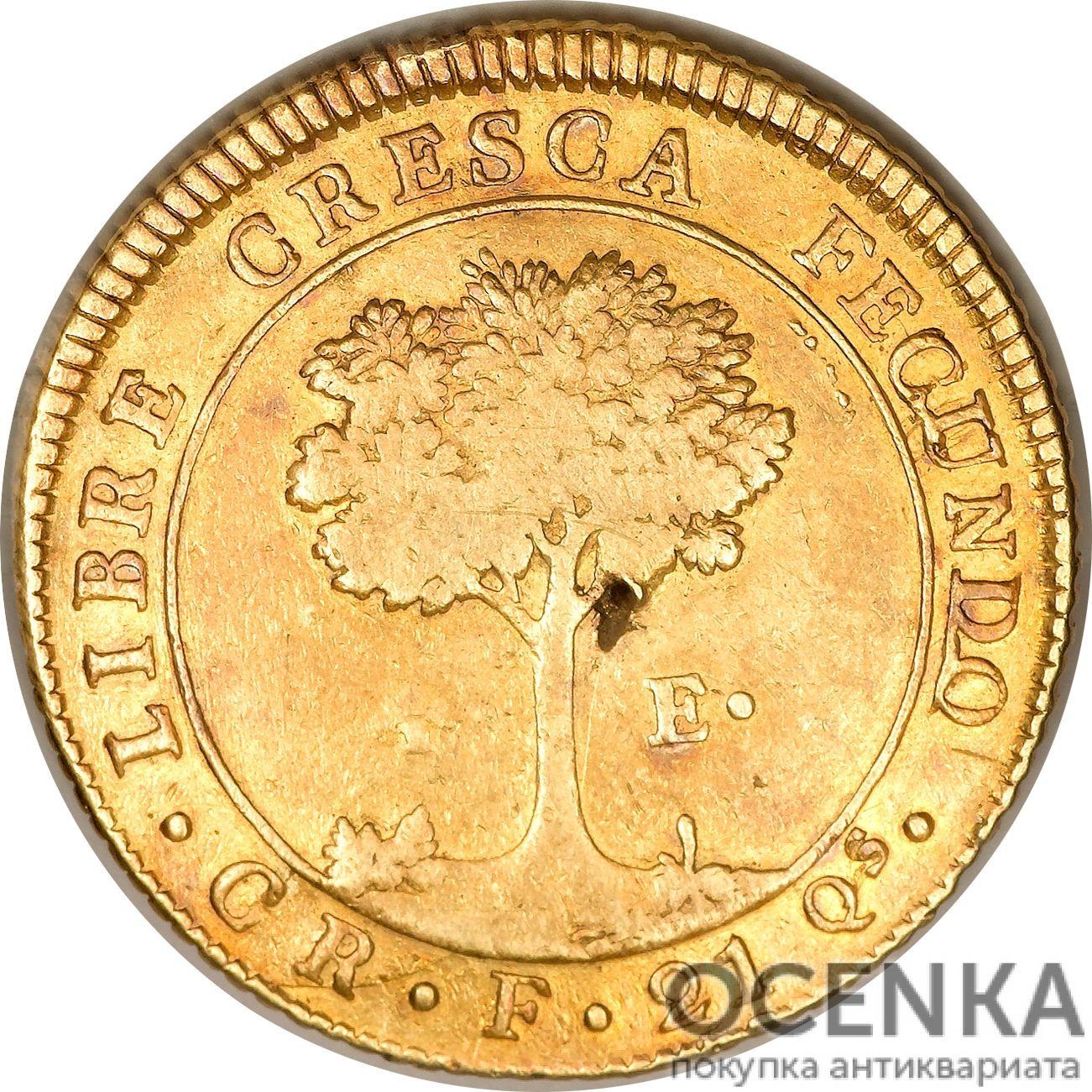 Золотая монета 4 Эскудо (4 Escudos) ЦАР