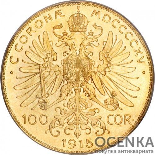 Золотая монета 100 крон Австро-Венгрии - 3