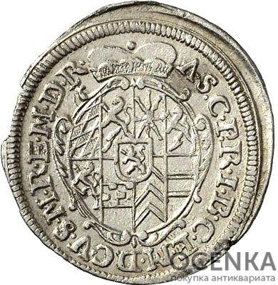 Серебряная монета 2 Крейцера (2 Kreuzer) Германия - 1