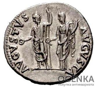 Серебряный Денарий Статилия Мессалины, 64-65 год - 1