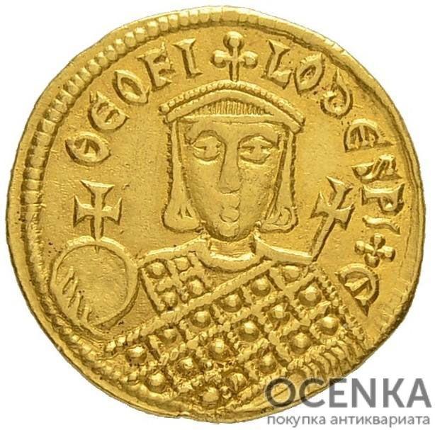 Золотой солид Византии, Михаил II Травл, 820-829 год