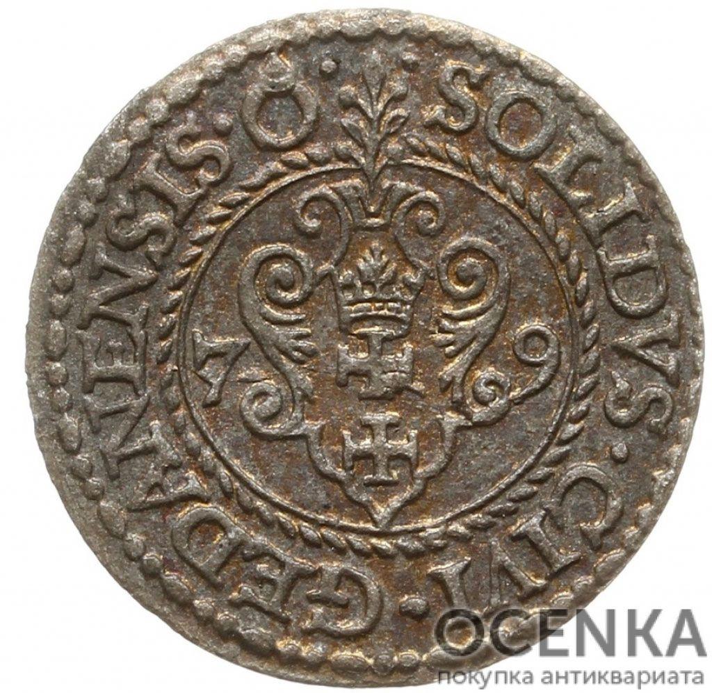 Серебряная монета Шеляг (1/3 Гроша) Средневековой Польши - 3