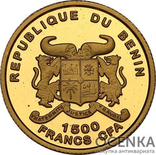 Золотая монета 1500 Франков Бенина