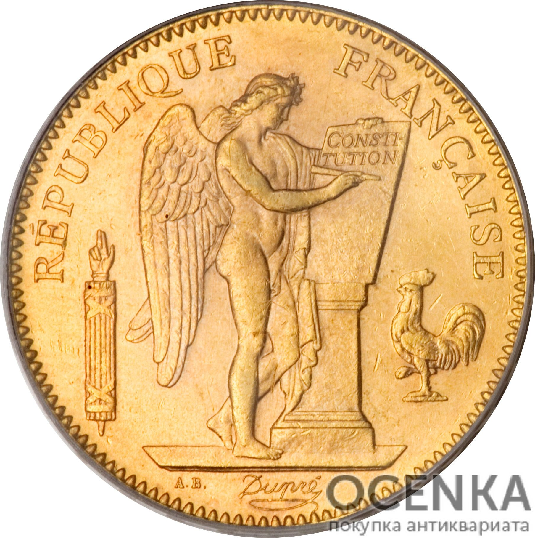 Золотая монета 50 Франков (50 Francs) Франция - 3