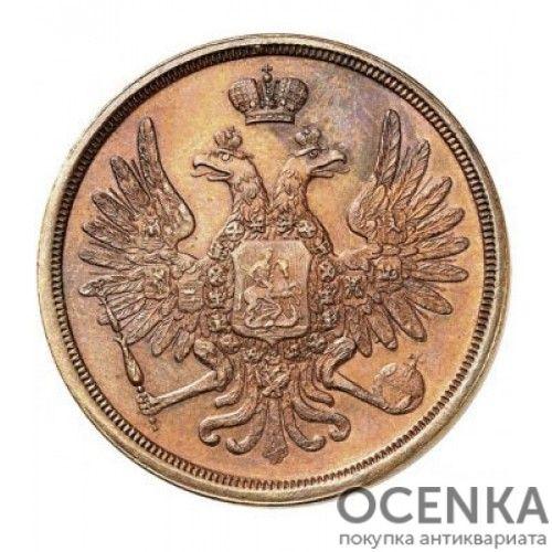 Медная монета 3 копейки Николая 1 - 5